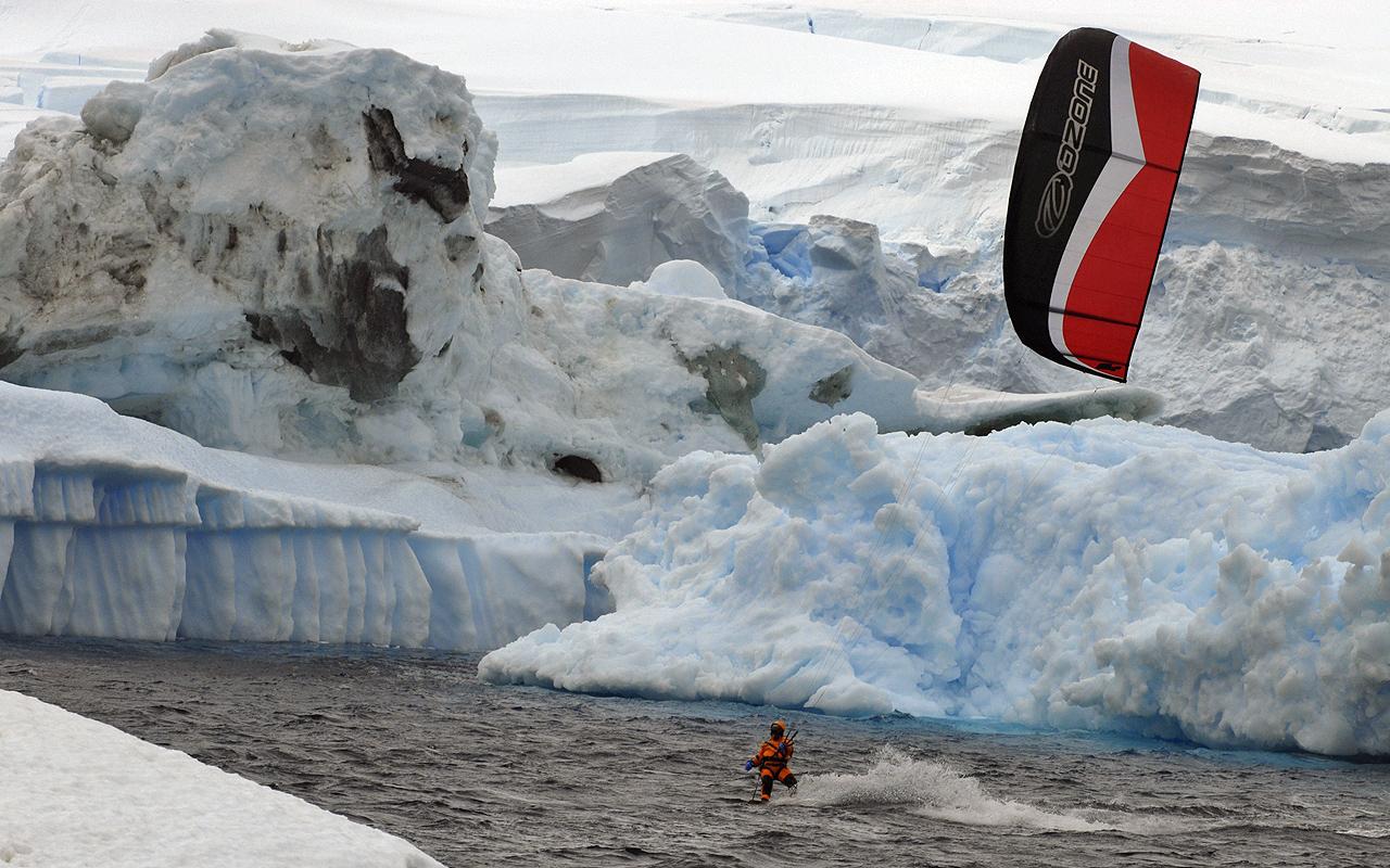 Kiteboarding-Antarctica 2